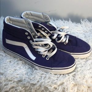 High Top Purple Vans 8.5 Men 10 Women